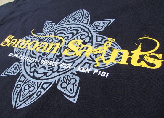 Short Run T Shirt Printing Northampton - Samoan Saints Rugby